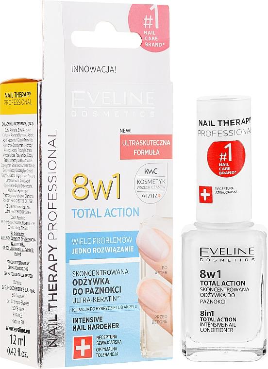 Traitement intensif pour la régénération des ongles - Eveline Cosmetics Nail Therapy Total Action 8 in 1