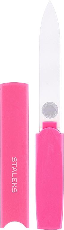 Lime à ongles en cristal avec étui en plastique FBC-13-128, rose - Staleks