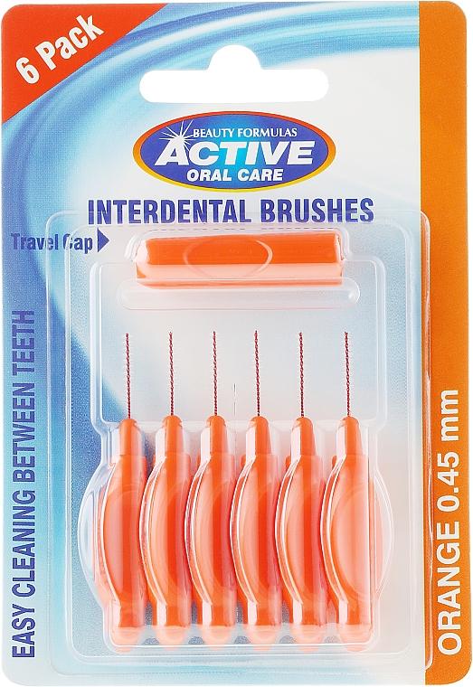 Brossettes interdentaires, 0,45mm, orange - Beauty Formulas Active Oral Care Interdental Brushes