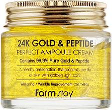 Parfums et Produits cosmétiques Crème à l'or pour visage - FarmStay 24K Gold & Peptide Perfect Ampoule Cream