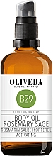 Parfums et Produits cosmétiques Huile pour corps, Romarin et Sauge - Oliveda Body Oil Rosemary Salbei Activating