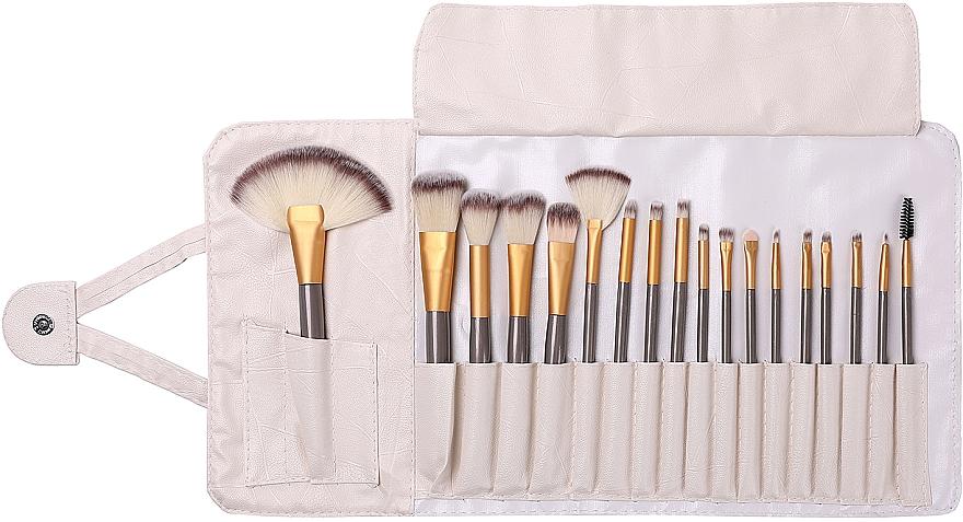 Kit pinceaux de maquillage, 18pcs - Lewer