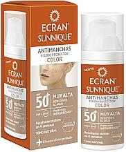 Parfums et Produits cosmétiques Fluide solaire pour visage - Ecran Sunnique Antimanchas Color Spf50+