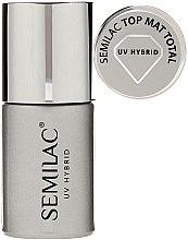 Parfums et Produits cosmétiques Top coat mat pour vernis semi-permanent - Semilac UV Hybrid Top Mat