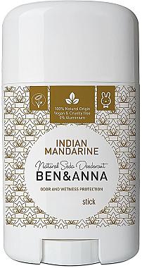 Déodorant stick naturel au bicarbonate de soude Mandarine indienne - Ben & Anna Natural Soda Deodorant Indian Mandarine