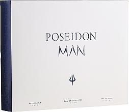 Parfums et Produits cosmétiques Instituto Espanol Poseidon - Set (eau de toilette/150ml + baume après-rasage/150ml + gel douche/150ml)