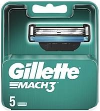 Parfums et Produits cosmétiques Lames de rechange pour rasoir, 5 pcs - Gillette Mach3