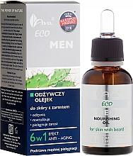 Parfums et Produits cosmétiques Huile 6 en 1 à l'huile d'argan, amande douce et avocat pour barbe - Ava Laboratorium Eco Men Oil
