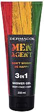 Parfums et Produits cosmétiques Gel douche pour visage, corps et cheveux - Dermacol Men Agent Don?t Worry Be Happy