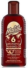 Parfums et Produits cosmétiques Huile bronzante protection faible - Malibu Bronzing Tanning Oil SPF 6