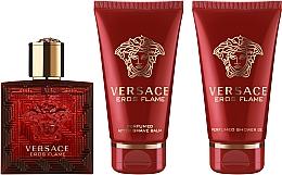 Parfums et Produits cosmétiques Versace Eros Flame - Coffret (eau de parfum/50ml + gel douche/50ml + baume après-rasage/50ml)