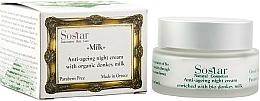 Parfums et Produits cosmétiques Crème de nuit au lait d'ânesse bio - Sostar Anti-Aging Night Cream Enriched With Bio Donkey Milk