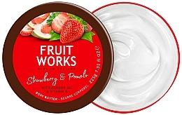 Parfums et Produits cosmétiques Beurre pour corps, Fraise et pomelo - Grace Cole Fruit Works Body Butter Strawberry & Pomelo