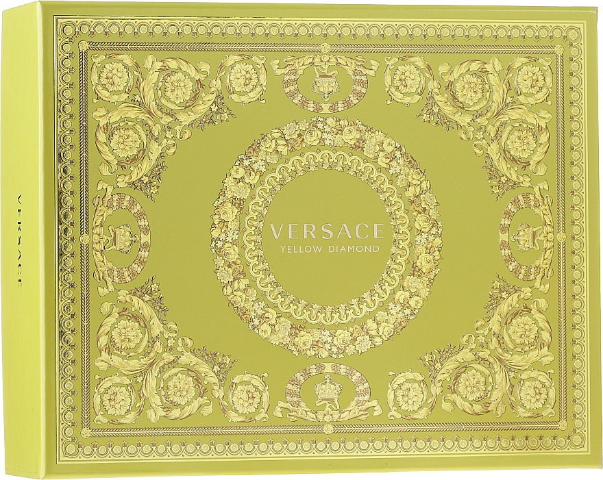 Versace Yellow Diamond - Coffret (eau de toilette/50ml + lotion corporelle/50ml + gel douche/50ml)