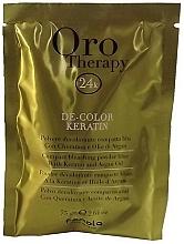 Parfums et Produits cosmétiques Poudre décolorante compacte bleu à la kératine pour cheveux - Fanola Oro Therapy Color Keratin