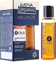 Parfums et Produits cosmétiques Huile capillaire à l'huile d'argan, lin, sésame et kératine - Kativa Argan Oil