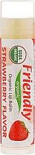 Parfums et Produits cosmétiques Baume à lèvres bio à la fraise - Friendly Organic Lip Balm Strawberry