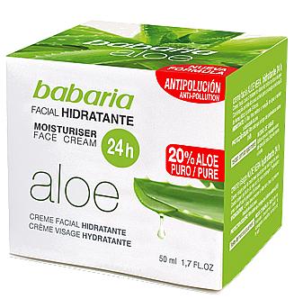 Crème à l'aloe vera pour visage - Babaria Aloe Vera 24-Hour Moisturising Face Cream — Photo N1
