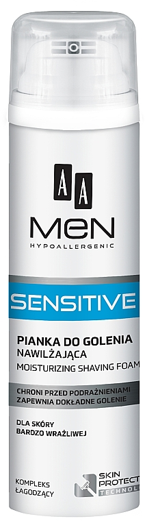 Mousse à raser - AA Men Sensitive Moisturizing Shaving Foam