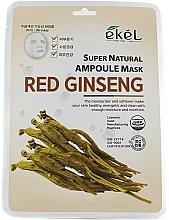 Parfums et Produits cosmétiques Masque tissu à l'extrait de ginseng rouge pour visage - Ekel Super Natural Ampoule Mask Red Ginseng