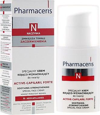 Crème apaisante à l'huile de colza et D-panthénol pour visage - Pharmaceris N Active-Capilaril Forte Cream