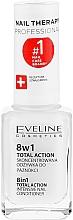 Traitement intensif pour la régénération des ongles - Eveline Cosmetics Nail Therapy Total Action 8 in 1 — Photo N2