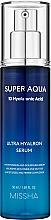 Parfums et Produits cosmétiques Sérum à l'acide hyaluronique pour visage - Missha Super Aqua Ultra Hyalron Serum