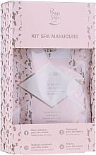 Parfums et Produits cosmétiques Peggy Sage Spa Manucure Kit - Set soin mains (caviar de bain/20g + gel exfoliant/15ml + masque /15ml + crème/15ml)