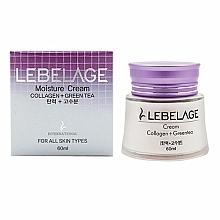 Parfums et Produits cosmétiques Crème au collagène et thé vert pour visage - Lebelage Collagen+Green Tea Moisture Cream