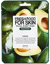 Parfums et Produits cosmétiques Masque tissu à l'extrait d'avocat pour visage - Fresh Food For Skin Facial Sheet Mask Avocado Smoothing
