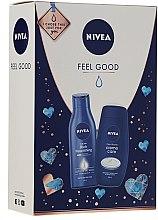 Parfums et Produits cosmétiques Nivea Feel Good - Set(gel douche/250ml + lait corps/250ml)