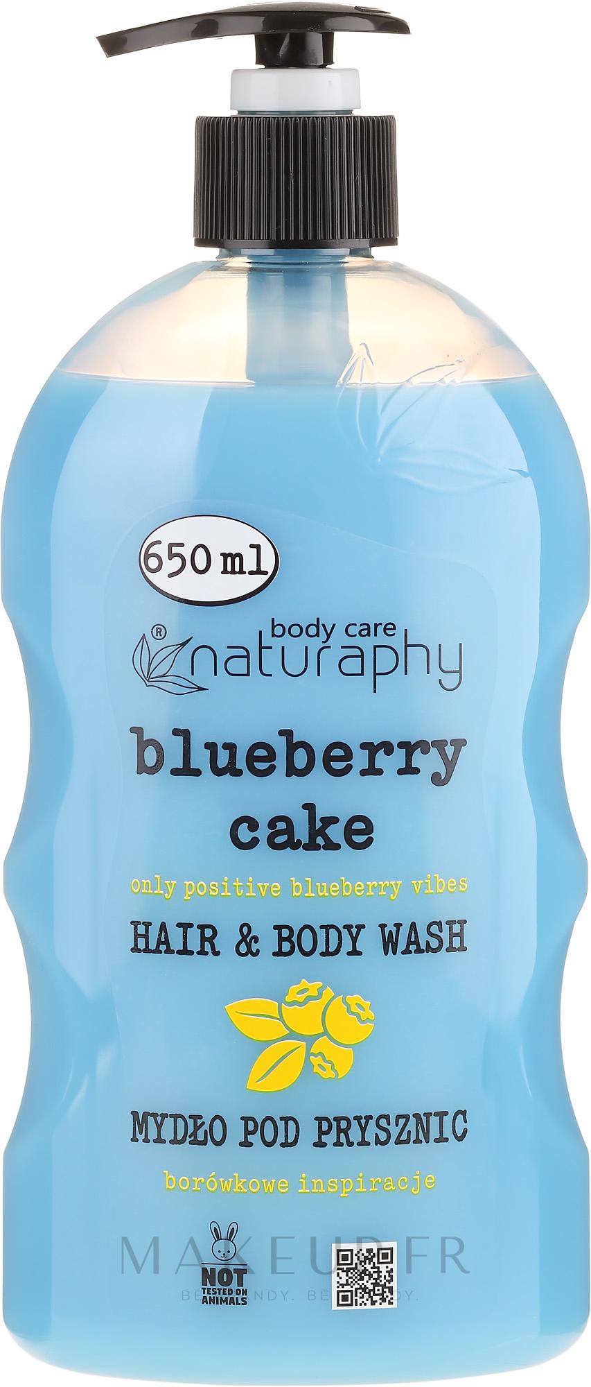 Gel douche pour corps et cheveux, Myrtille et Aloe Vera - Bluxcosmetics Naturaphy — Photo 650 ml