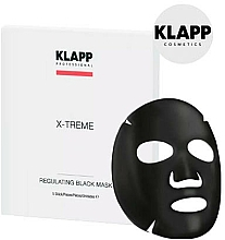 Parfums et Produits cosmétiques Masque regulateur au charbon actif pour visage - Klapp X-Treme Regulating Black Mask