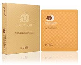 Parfums et Produits cosmétiques Masque hydrogel à la bave d'escargot et or pour visage - Petitfee & Koelf Gold & Snail Hydrogel Mask Pack