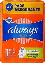 Parfums et Produits cosmétiques Serviettes hygiéniques, 40 pcs - Always Ultra Normal Plus