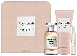 Parfums et Produits cosmétiques Abercrombie & Fitch Authentic - Coffret (eau de parfum/100ml + émulsion pour corps/200ml + eau de parfum/15ml)