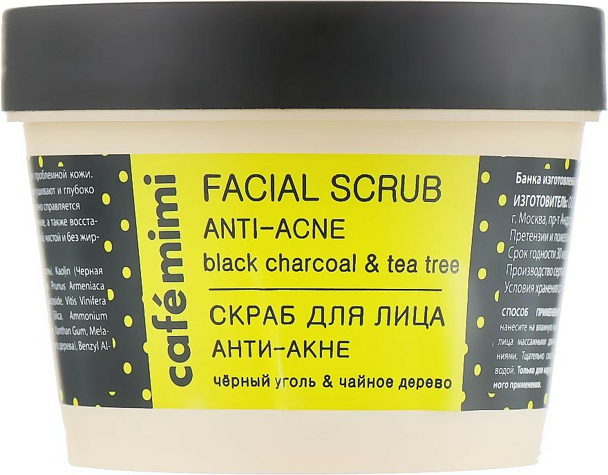 Gommage au charbon et arbre à thé pour visage - Cafe Mimi Facial Scrub Anti-Acne