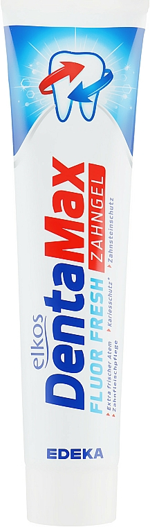 Dentifrice au menthol - Elkos Dental Denta Max Fluor-Fresh