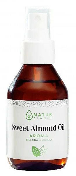 Huile d'amande douce à l'arôme de thé vert - Natur Planet Sweet Almond Oil Aroma Green Tea