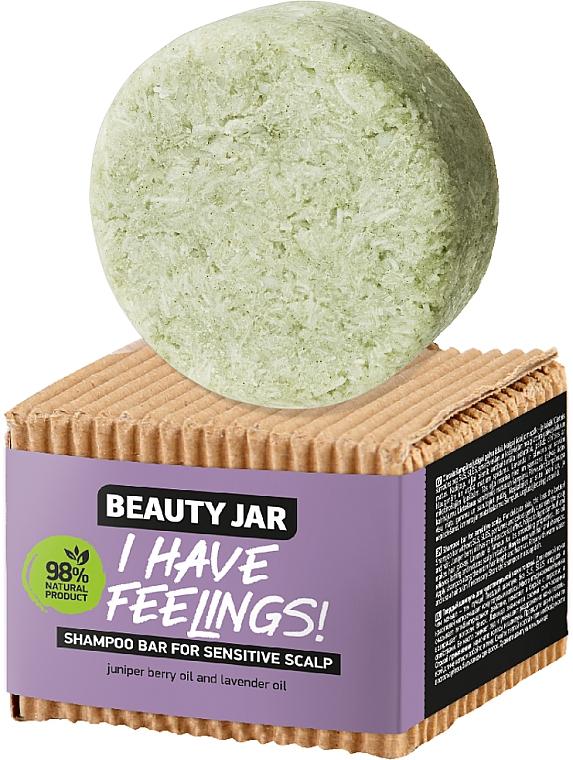Shampooing solide à l'huile de genièvre et lavande pour cuir chevelu - Beauty Jar I Have Feelings