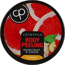 Parfums et Produits cosmétiques Gommage amincissant au sucre et extrait de racines de gingembre pour corps, Pamplemousse - Cosmepick Body Peeling Grapefruit & Ginger