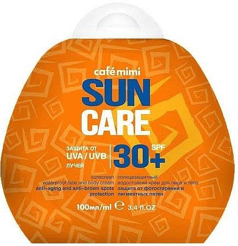 Crème solaire waterproof pour visage et corps SPF30+ - Cafe Mimi Sun Care