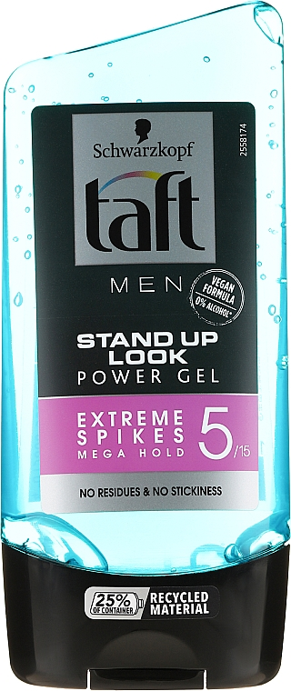 Gel coiffant fixation extra forte - Schwarzkopf Taft Looks Stand Up Look Power Gel Extreme Spikes