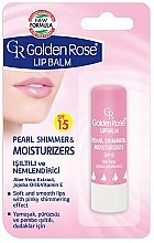 Parfums et Produits cosmétiques Baume à lèvres à l'huile de jojoba, aloe vera et vitamine E - Golden Rose Lip Balm Pearl Shimmer & Moisturizers SPF15