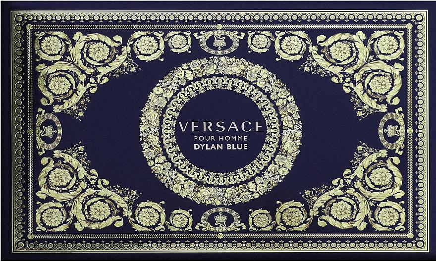 Versace Dylan Blue Pour Homme - Coffret (trousse de toilette + eau de toilette/100ml + eau de toilette/10ml)