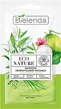 Parfums et Produits cosmétiques Masque à l'eau de coco et thé vert pour visage - Bielenda Eco Nature Coconut Water Green Tea & Lemongrass Detox & Mattifyng Face Mask
