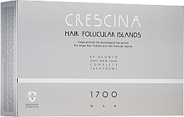 Parfums et Produits cosmétiques Traitement anti-chute 1700, 20 ampoules - Crescina Hair Follicular Islands Man Complete Treatment 1700