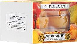 Parfums et Produits cosmétiques Bougies chauffe-plats parfumées Mangue et Pêche - Yankee Candle Scented Tea Light Candles Mango Peach Salsa