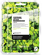 Parfums et Produits cosmétiques Masque tissu apaisant pour visage, Thé vert - Farmskin Superfood For Skin Soothing Sheet Mask