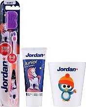 Parfums et Produits cosmétiques Jordan Junior - Set, Licorne 2 (dentifrice/50ml + brosse à dents/1pc + tasse)